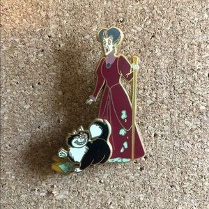 Evil step mother and Lucifer Disney pin